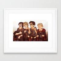viria Framed Art Prints featuring little marauders by viria