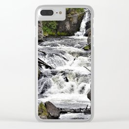 Yellowstone Firehole Falls Clear iPhone Case