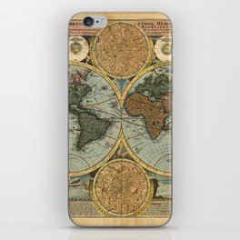 Old World Map iPhone Skin