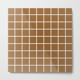 brown cube Metal Print