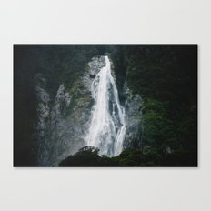 Waterfall in Milford Sound, NZ Canvas Print