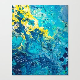 Waves from Space Canvas Print