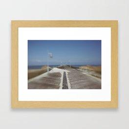 Henlopen Pier Framed Art Print