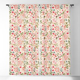 Birds and flowers 001 Blackout Curtain