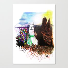 Lama Glama Canvas Print