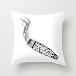 Smudging Stick Throw Pillow