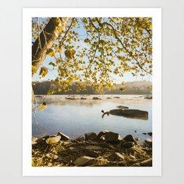 Sunrise On The Potomac (film) Art Print