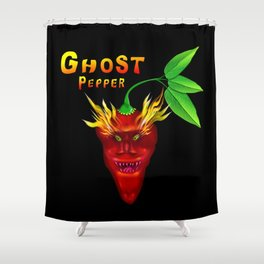 Ghost Pepper. Shower Curtain