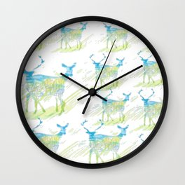 Deer Pattern Wall Clock