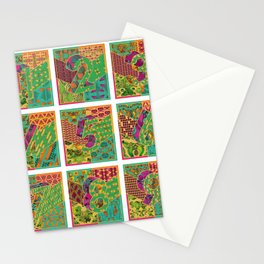Tiles 1-9 White Stationery Cards