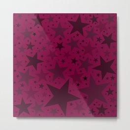 Christmas Mulled Berry Wine Stars Metal Print