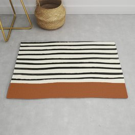 Burnt Orange x Stripes Rug