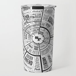 San Francisco Type Wheel Travel Mug