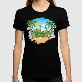 Lazy Iguana Summer on the Beach T-shirt