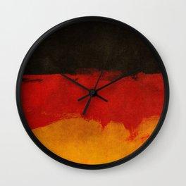 Watercolor flag of Germany Wall Clock