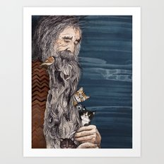 Beardnest Art Print