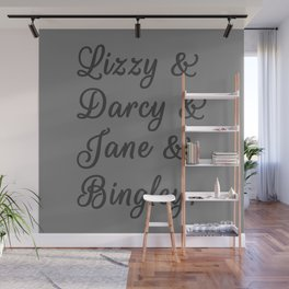 The Pride and Prejudice Couples I Wall Mural