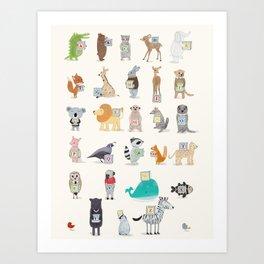 little alphabet Art Print