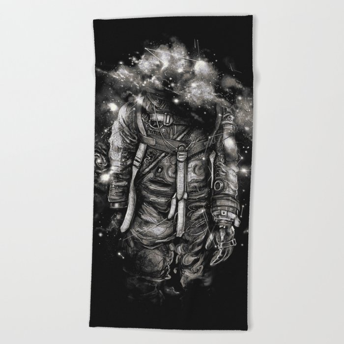 Lost In Cosmic Shades Beach Towel