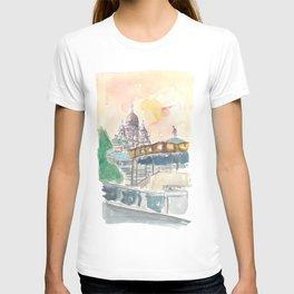Paris France Montmartre Sunset At Sacre Coeur T-shirt