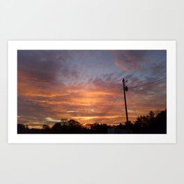 Sunset in Bell Buckle Art Print