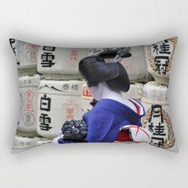 Geisha Maiko Photo Rectangular Pillow