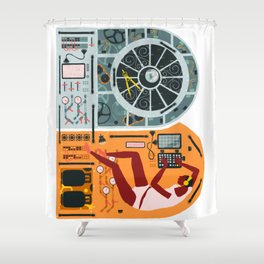Navigation Control Room Shower Curtain