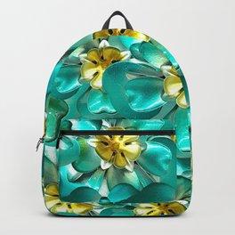 Golden Cyan Greens Backpack