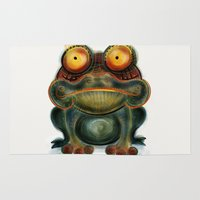frog Area & Throw Rugs featuring Frog by Riccardo Pertici