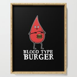Blood Drops Blood Group Burgers Serving Tray
