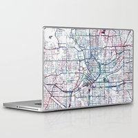 atlanta Laptop & iPad Skins featuring Atlanta map by MapMapMaps.Watercolors