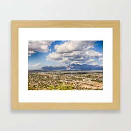 "From ""A"" Mountain Framed Art Print"