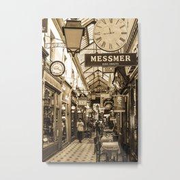 Passage des Panoramas Paris, France Metal Print