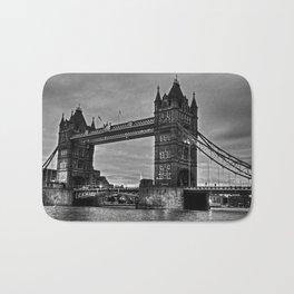 Tower bridge in black and white. Bath Mat