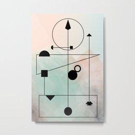 Geometric Scandinavian Design Pastel Colors Metal Print