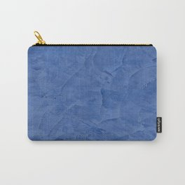 Light Blue Stucco - Corbin Henry Monochromatic texture -Faux Finishes - Venetian Plaster Carry-All Pouch