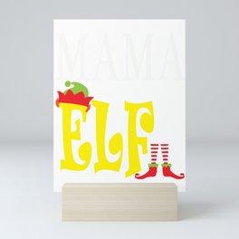 mama elf, mom, mom elf, mother elf, christmas, christmas gift, xmas, xmas gift, elf gift Mini Art Print