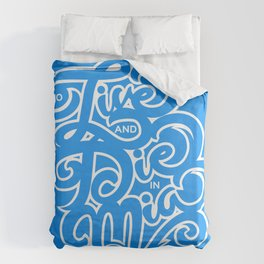 To Live and Die in MIA Duvet Cover
