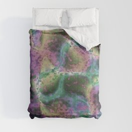 Crystal Rock Formation Dark Comforters