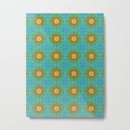 Yellow Salsify Flower Pattern Metal Print