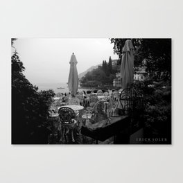 Terrace on Como Lake Canvas Print