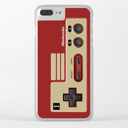 Classic retro Red Gold game controller iPhone 4 5 6 7 8, tshirt, mugs and pillow case Clear iPhone Case