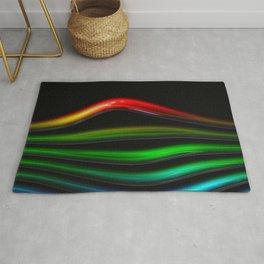 curved line rainbow glass bright tubea Rug