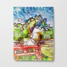 Horse statue at Bailiwick Animal Park Metal Print