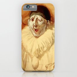 """""""The Grey Clown"""" by Gustave Doré iPhone Case"""