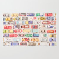 new jersey Area & Throw Rugs featuring New Jersey Traffic Jam by Edward M. Fielding