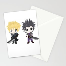Cloud & Zack Final Fantasy chibi Stationery Cards