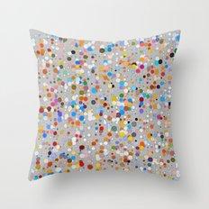 Splash dots Throw Pillow