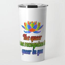 Gay Lesbian LGBT Bisexual Homosexual pansexual trans queer gender rainbow Travel Mug