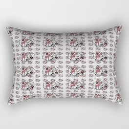 Colorful Giraffe Illustration Pattern Rectangular Pillow